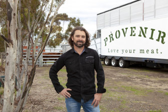 Provenir chief executive Chris Balazs with his mobile abattoir.
