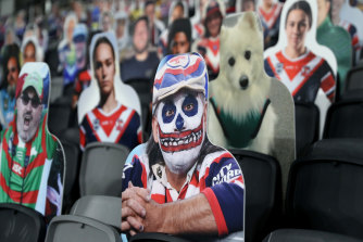 'Fan In The Stand' cutouts at Bankwest Stadium on Friday.