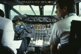 Inside a Concorde cockpit.