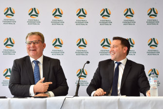 Chairman Chris Nikou and James Johnson are at the helm of what is now known as Football Australia.