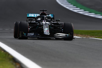 Track record: Lewis Hamilton took pole position at Silverstone.
