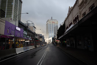 Sydney's streets are quiet but there is still demand for parking spaces.