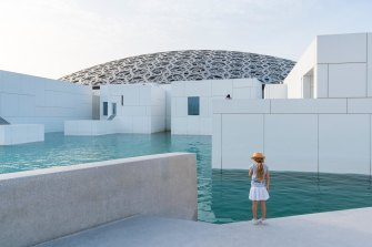 The Louvre Abu Dhabi is one of the area's top cultural institutions.