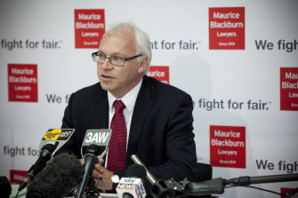 Bev McArthur wanted to know how many times the Attorney-General met with Maurice Blackburn's head of class actions, Andrew Watson (pictured).