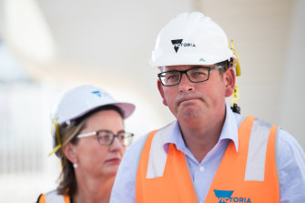 Premier Daniel Andrews and the Minister for Transport Infrastructure Jacinta Allan this week.
