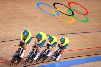 Australia claimed bronze in the team pursuit.