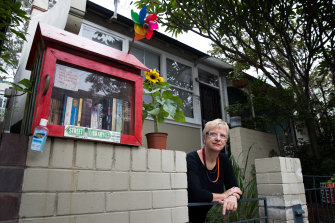 Marina Shine at her Balmain street library branch.