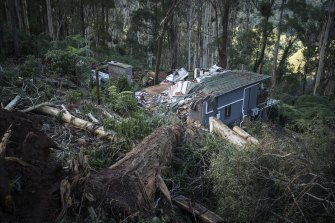 The remains of Nat and Lee Guest's home.