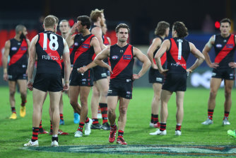 The Bombers were comprehensively outplayed by the Bulldogs on Friday night.
