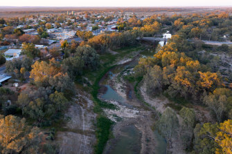 Wilcannia and the Darling River in 2019.
