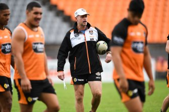 Wests Tigers coach Michael Maguire was linked to the Cowboys job earlier this week.