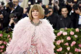 Anna Wintour overseeing her domain at The Met Gala in 2019.
