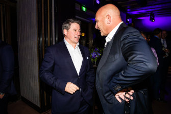 Nine Entertainment Co chief executive Mike Sneesby with chef Matt Moran.
