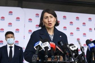 NSW Premier Gladys Berejiklian provides an update on the latest COVID-19 developments on Wednesday.