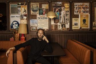 Justin Hemmes at Jimmy's Falafel, Sydney.