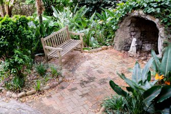 The hospital garden where Victoria and Danny spent time with Kiera after her death. Here pictured before the upgrades.