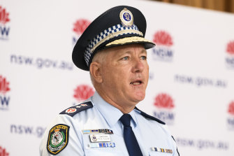 NSW Police Commissioner Mick Fuller has been given additional powers.