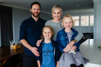 Alison Deboo, husband Matthew and their children Ottilie, 6, and Zachary, 10.