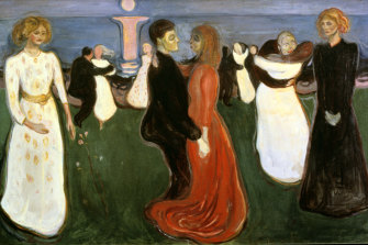 There's nothing life-enhancing about this painting: Edvard Munch's The Dance of Life', 1899-1900.
