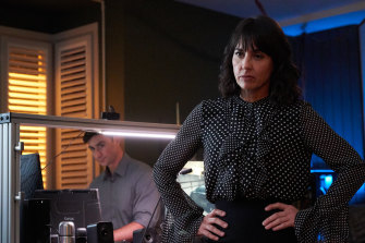 Constance Zimmer (right) as CIA counterespionage boss Robin Larkin in season 2 of Condor.