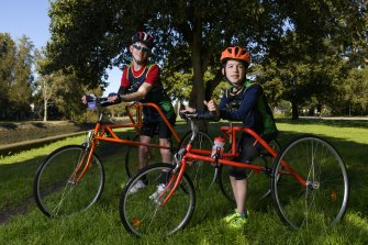 Arran Keith, 12, and Andrew West, 26, both love frame running.