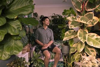 "Alan Chan, 29, describes his Surry Hills studio apartment as his ""mini sanctuary""."