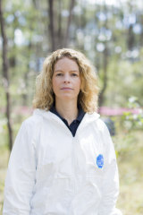Dr Shari Forbes at AFTER – Australian Facility for Taphonomic Experimental Research.