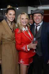 Skye Leckie with Jasmine and Karl Stefanovic.