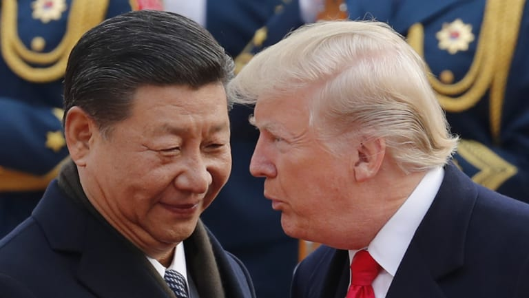 Presidents Xi and Trump in Beijing last year.