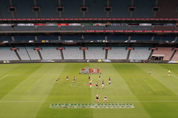 The AFL played just one round behind closed doors before the season was halted.