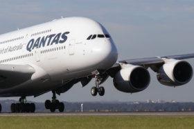 Qantas A380 superjumbo.