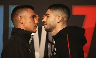 Tim Tszyu and Michael Zerafa face off.