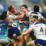 Four sin-bins in a minute: Lodge flips the bird at fans as Warriors implode