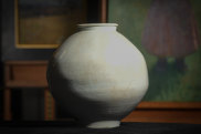 Moon jars are highly prized and subtly beautiful.