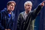 Sean Rees-Wemyss as Albus Potter and William McKenna as Scorpius Malfoy.
