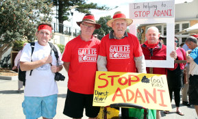 BIll Ryan attended a Stop Adani National Day of Action at North Wollongong Beach in 2017.