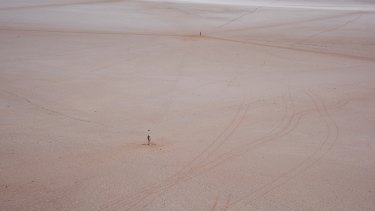 Lake Ballard in WA's Goldfields region.