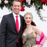 Glenn McGrath with wife Sara Leonardi-McGrath, who donned an Indian-inspired outfit we'll never forget.