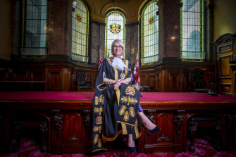 Lord mayor Sally Capp says the budget will be back in the black next financial year.