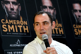 Cameron Smith at his book launch on Monday.