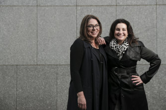 """Anna Bateman and Jacqui Lambie: """"Jacqui wants to make the world more equitable for people like her. I care about people who don't have any power and she cares about that a lot, too."""""""