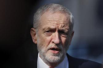British Labour leader Jeremy Corbyn.