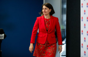 NSW Premier Gladys Berejiklian said on Friday her government would forge ahead with plans for a mass-vaccination hub at Sydney Olympic Park.