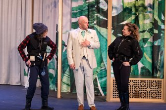 Marissa Bennett, David Whitney, Mandy Bishop in Much Ado About Nothing.