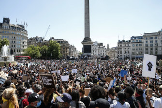 A Black Lives Matter rally in London last weekend.