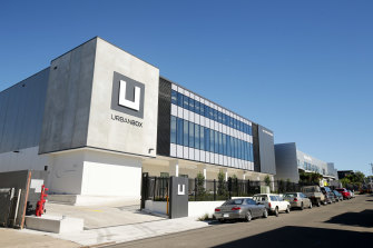 The new $20m Urbanbox storage facility developed by theDominelli family, at 12 Phillips Road, Kogarah, in Sydney's South.