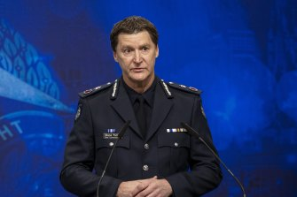 Police Chief Commissioner Shane Patton said he was seriously considering mandating vaccinations.