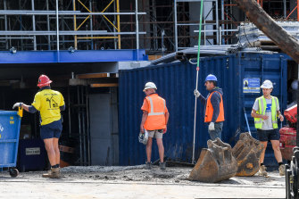 Construction work continues in Victoria – for now.