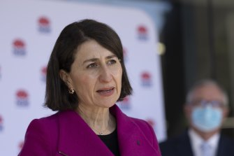 NSW Premier Gladys Berejiklian said it was concerning so many cases had not been identified as contacts before testing positive.
