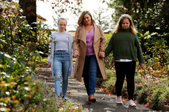 Jenny Morrison and her daughters, Abbey and Lily, will return to Sydney this week as school resumes.